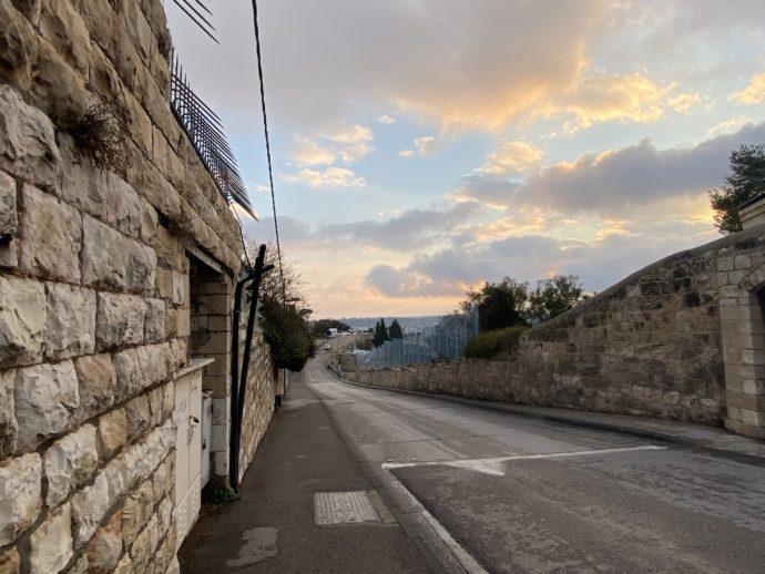 オリーブ山の車道
