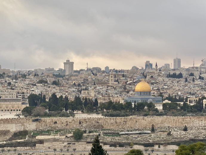 オリーブ山から眺めるエルサレム旧市街