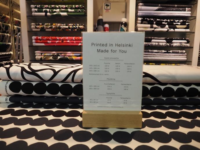 ハカニエミ・マーケットホールのmarimekko テキスタイル