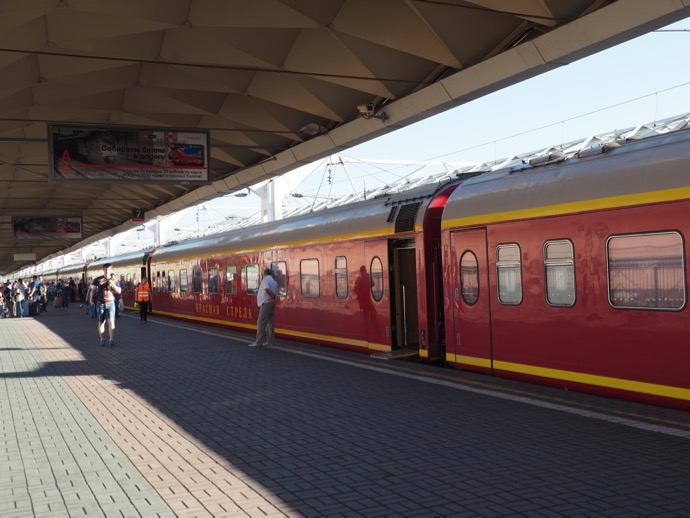 レニングラード駅のホーム