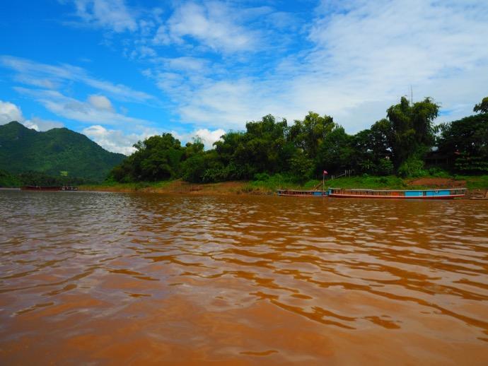 メコン川の濁流