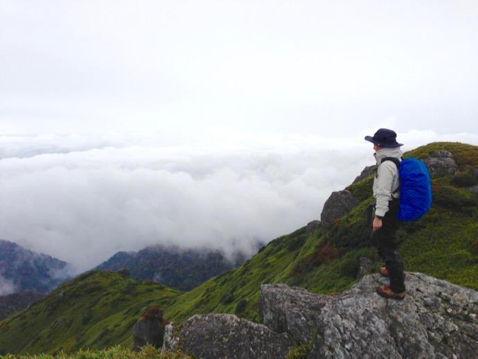 登山 宮之浦岳 山頂