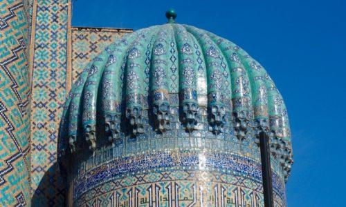 サマルカンド ブルー 名所 レギスタン広場 ティラカリ・マドラサ