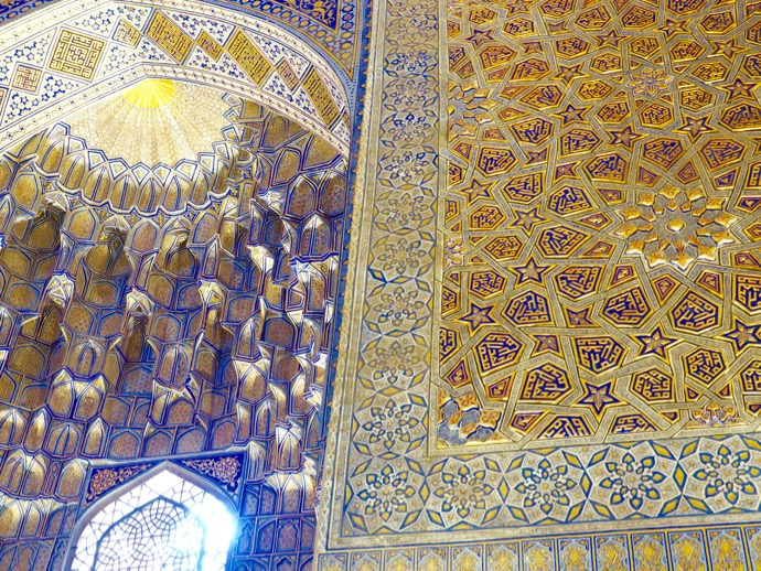 グル・アミール廟の豪奢なモザイク壁