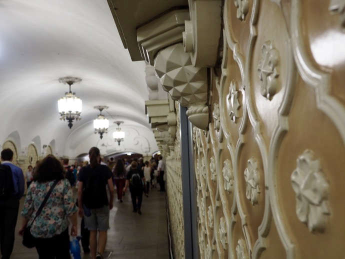 装飾の施された壁