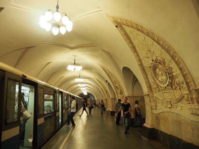 タガンスカヤ駅のホーム