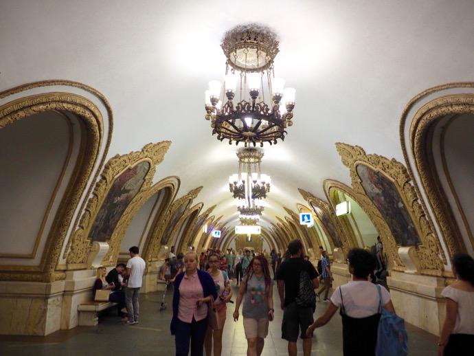 キエフスカヤ駅のモザイク