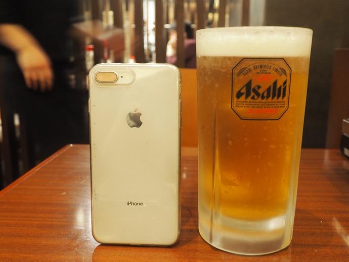 ぼてじゅうの生ビール(特大)¥790