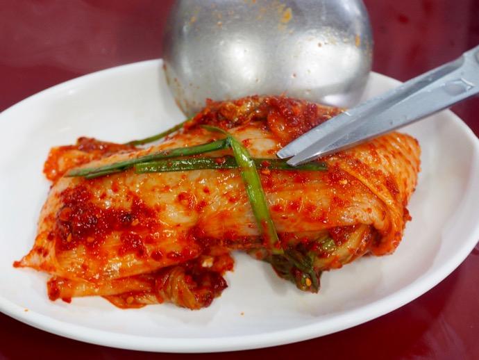 大きな白菜のキムチ