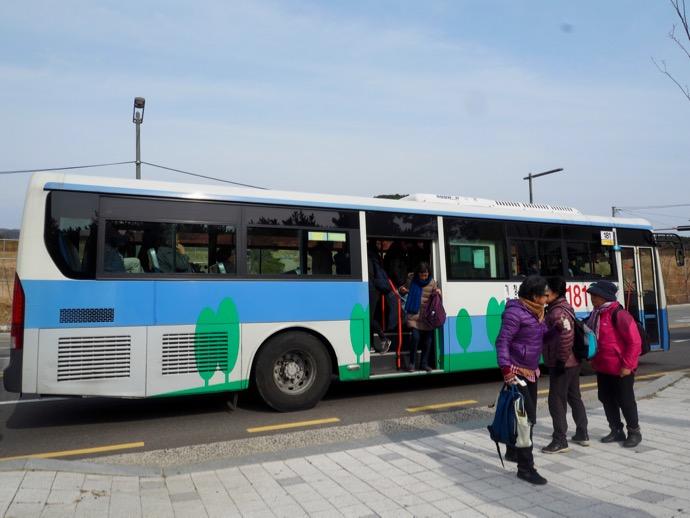 海東竜宮寺にバスが到着