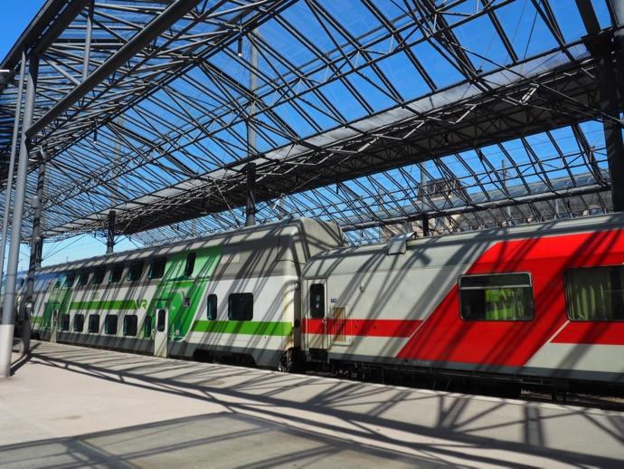 ヘルシンキ中央駅の列車