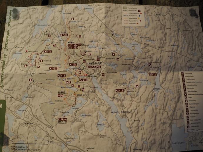 ヌークシオ国立公園のマップ