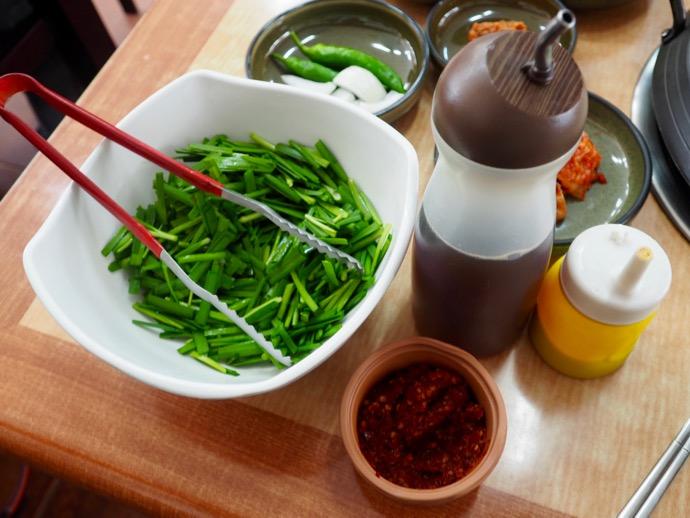 タッカンマリの調味料とタテギ
