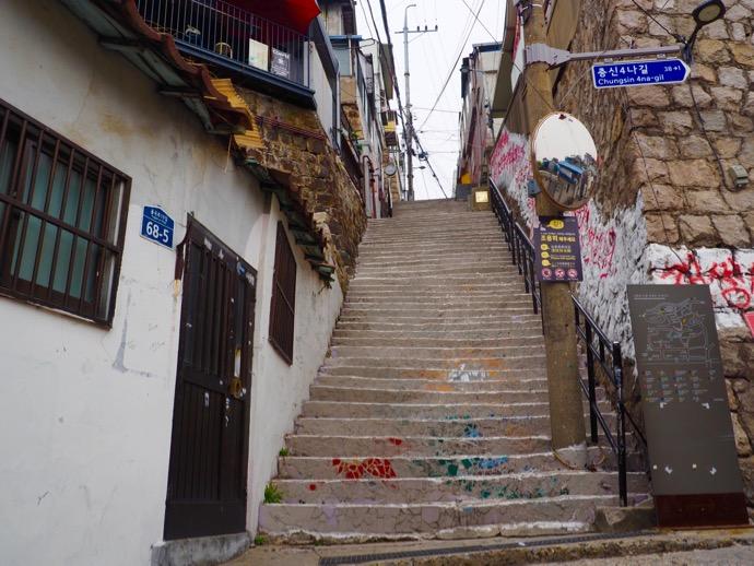 梨花壁画村の階段