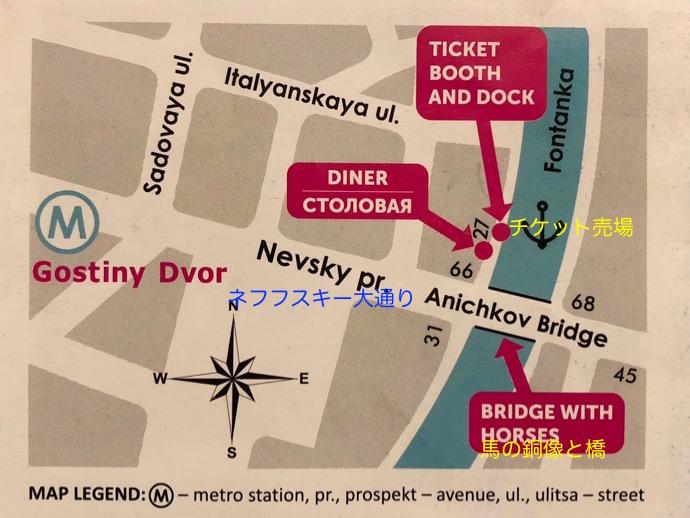 ボートツアーの地図