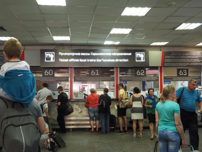 モスクワ駅のカッサ