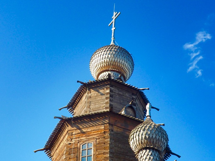 木造建築と農民生活博物館の木造教会