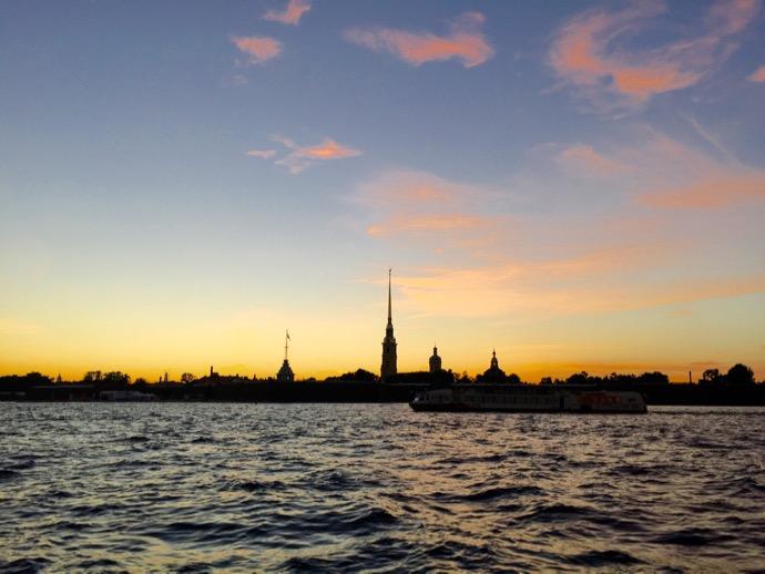 夕焼けのサンクトペテルブルク