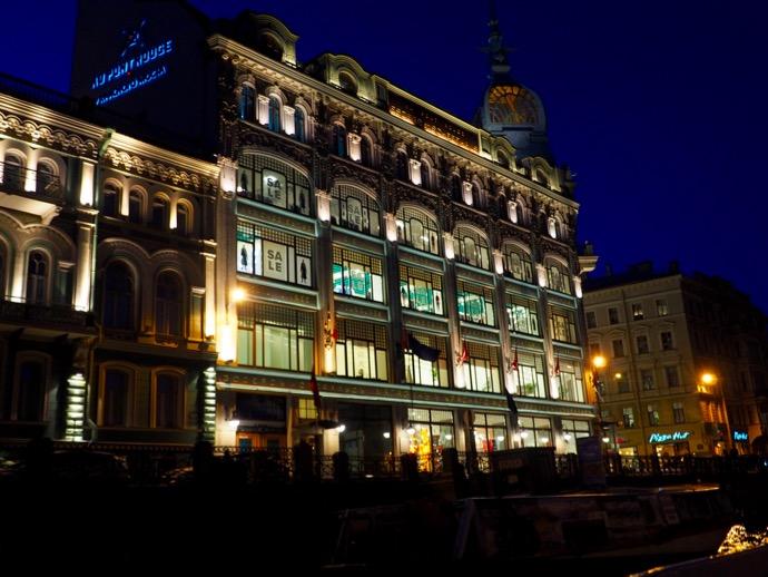 夜のサンクトペテルブルク