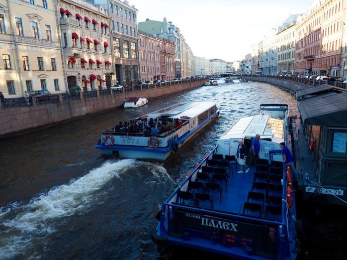 サンクトペテルブルクのボートツアー