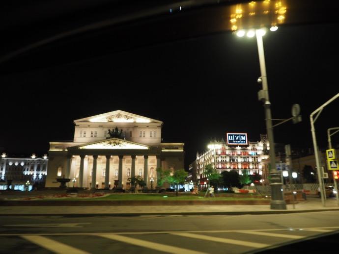 夜のモスクワ市内