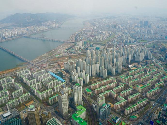 ロッテワールドタワー123階から眺める景色