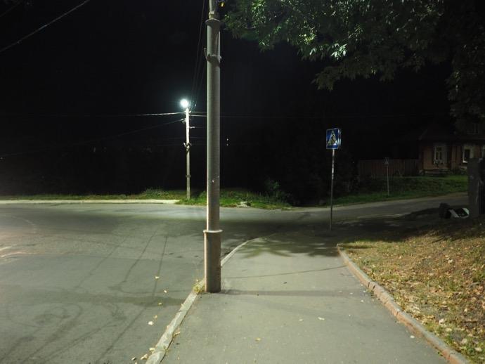 ウラジーミル駅までの道