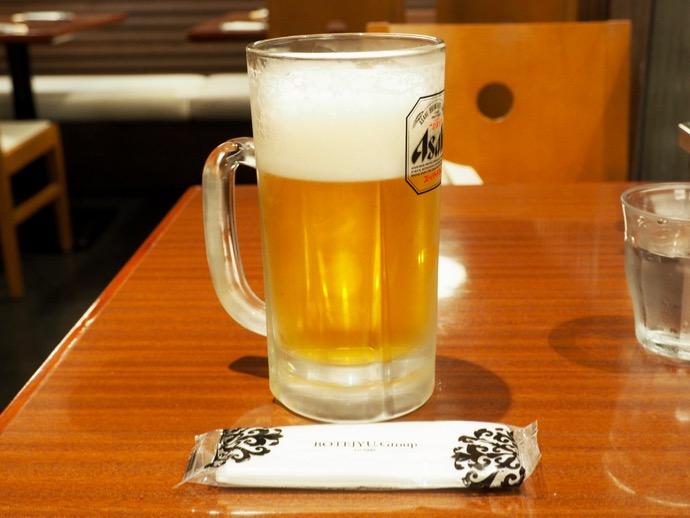 ぼてぢゅうのビール特大サイズ