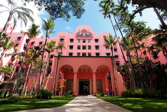 ハワイのピンクパレス