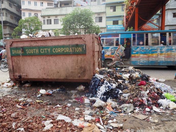 街なかのゴミ集積所