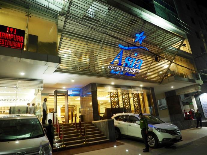 ダッカのホテル