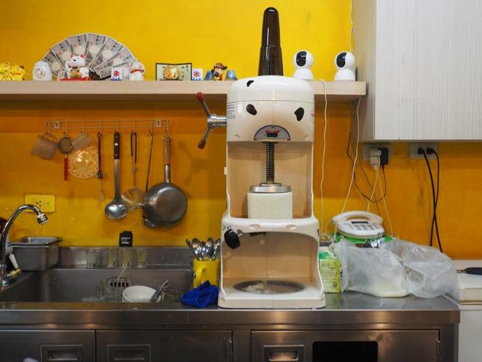 クマ顔のかき氷製作機