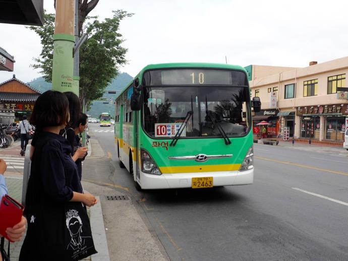 仏国寺行きのバス