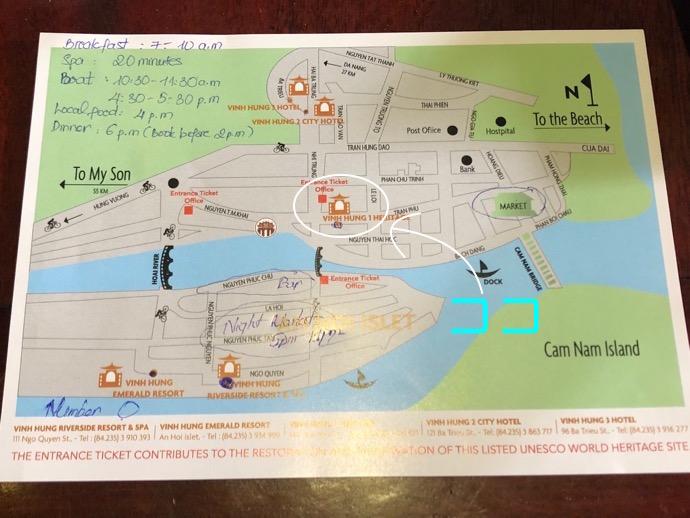 ホイアン旧市街の地図