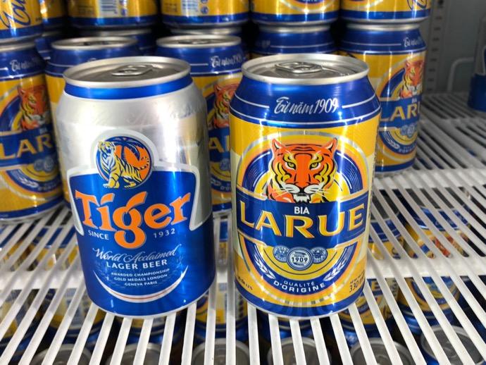 LARUEビールとTIGERビール