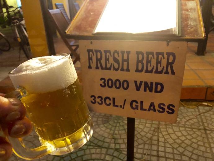 ホイアンの激安ビール