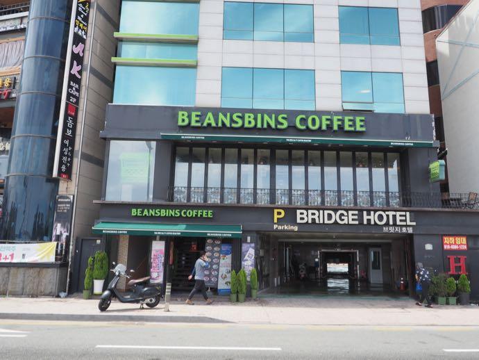 BEANS BINS COFFEE 釜山広安里店の外観