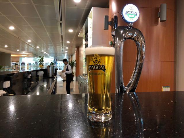 MINGALAR SKY LOUNGE ヤンゴン ミャンマー RGN ラウンジ プライオリティパス 生ビール