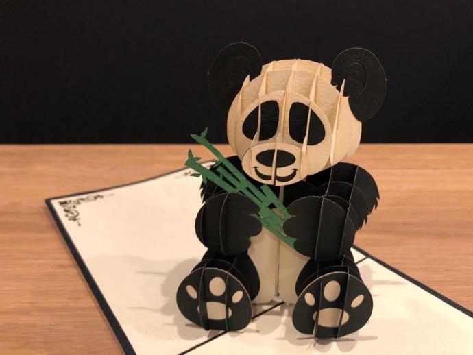 パンダの立体カード