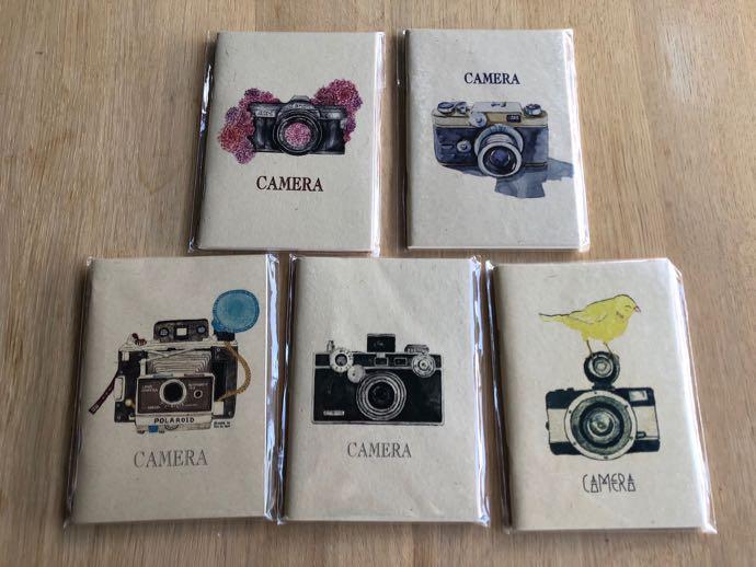 カメラマークのノート5冊