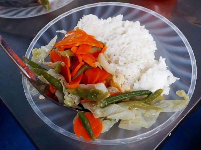 意外に美味しい野菜炒め