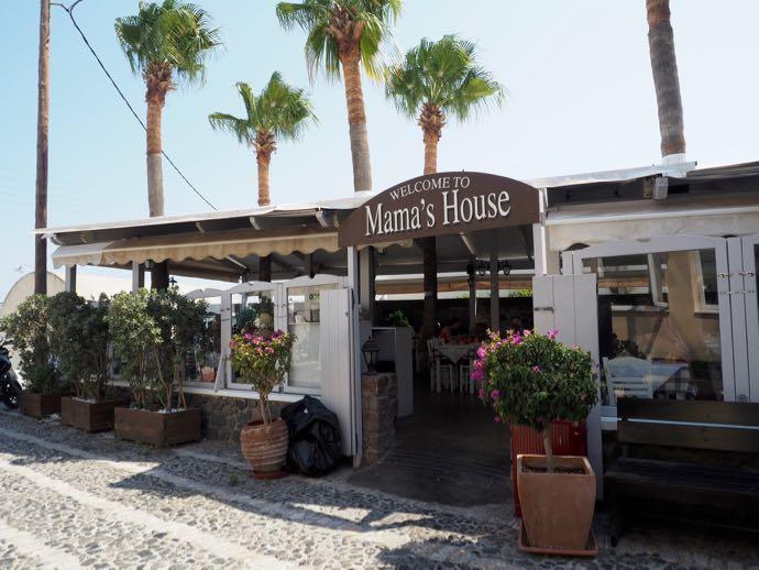 サントリーニ島のローカルレストラン