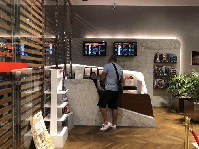 Comfort Lounge イスタンブール アタテュルク国際空港 プライオリティパスで無料 ラウンジ おすすめ 受付