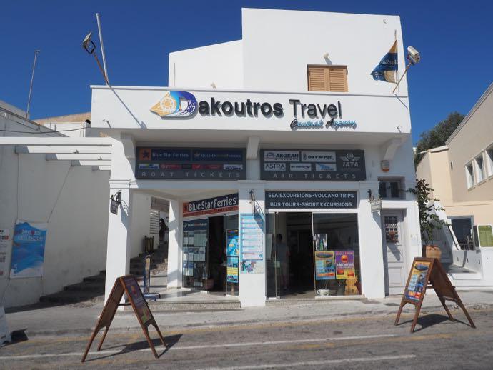 サントリーニ島の旅行代理店