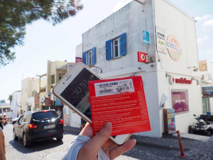 Vodafoneで購入したSIM