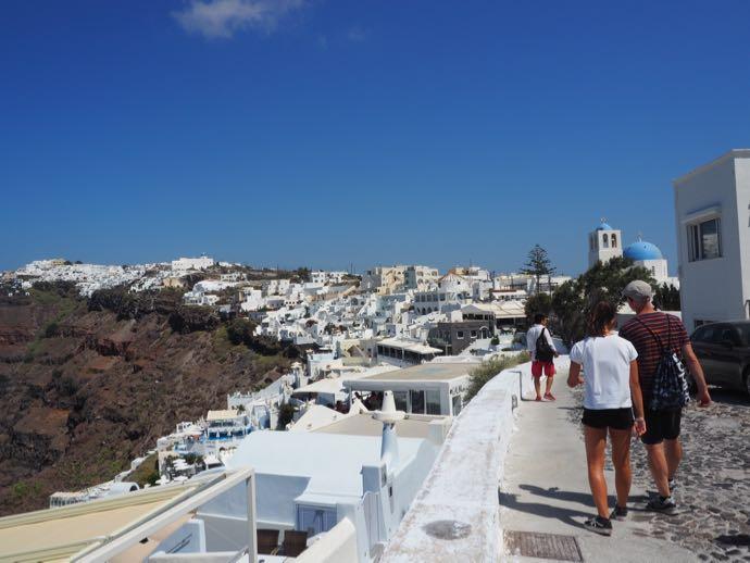 女子ひとり旅 サントリーニ島 フィロステファニ インスタ映え写真