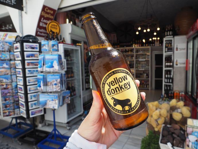 サントリーニの地ビール・イエロードンキー