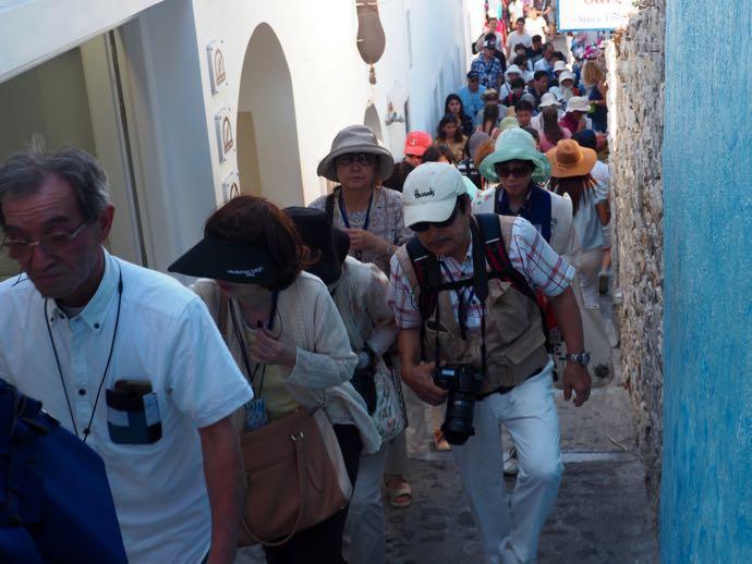 観光客の大群