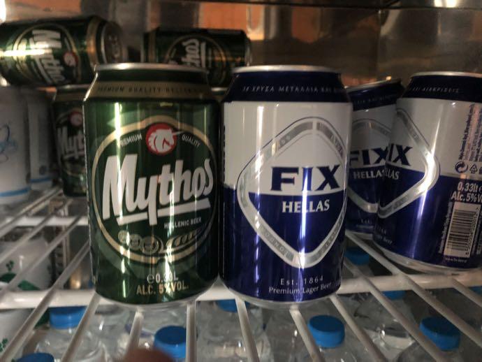 Skyserv Melina Merkouri Lounge ATH アテネ国際空港 ラウンジ プライオリティパスで無料 ビールは一応ある