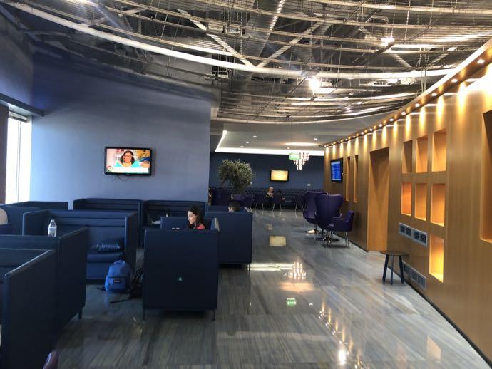 Skyserv Melina Merkouri Lounge ATH アテネ国際空港 ラウンジ プライオリティパスで無料 ブルー